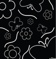 flowers and butterfly background vector image