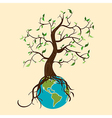 Go green tree world vector image