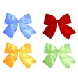 red and silver bows vector image