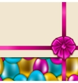 Seamless easter background vector image