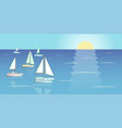 yachts regatta banner horizontal cartoon style vector image