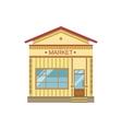 Market Commercial Building Facade Design vector image