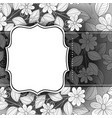 monochrome floral template with place for text vector image