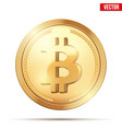 gold coin with bitcoin sign vector image vector image