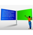 blank trade show booth for designers vector image
