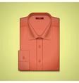 red classic mens shirt vector image