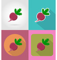 vegetables flat icons 16 vector image