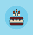 Birthday cake sign icon vector image