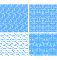 four seamless textures of abstract water vector image