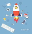 Project StartUp vector image