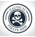 skull and bones symbol pirate vector image