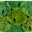 Monstera leaves in paisley style vector image vector image