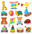Set of babys toys vector image vector image
