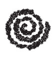 hand painted spiral isolated on white vector image