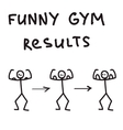 Funny character gym results vector image vector image