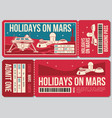 travel voucher ticket holiday on mars vector image