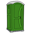 green mobile toilet vector image