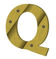 wood letter Q vector image