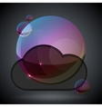 soap bubble on black background one vector image