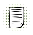 Lined paper comics icon vector image
