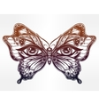 Beautiful butterfly wings with human eyes vector image