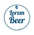 Beer label logo vector image