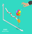 cost reduction flat isometric concept vector image