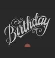 hand drawn lettering - birthday elegant modern vector image