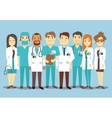 Hospital medical staff team doctors nurses surgeon vector image