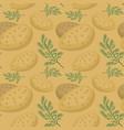 Potatoes seamless pattern praties endless vector image