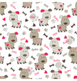 Seamless pattern with dog 3 vector image