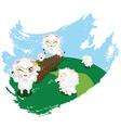 Sheep Jumping2 vector image