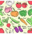 vegetables seamless vector image