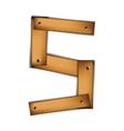 wooden type s vector image