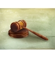 Gavel old-style vector image