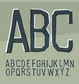 cut off alphabet cartoon style elementary hand vector image