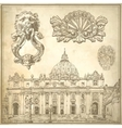 vintage sketch calligraphic drawing italy vector image