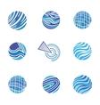 Blue Abstract Logos vector image vector image