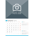August 2016 Wall Monthly Calendar for 2016 Year vector image