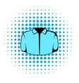 Dress shirt icon comics style vector image vector image