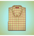 shirt of tattersall vector image vector image