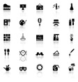 Art activity icons with reflect on white vector image