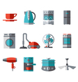 Domestic Equipment colored icons with half shadow vector image