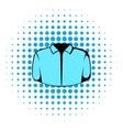 Dress shirt icon comics style vector image