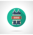 Fitness and sport wear detailed color icon vector image