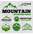 Premium mountain adventure logo vector image