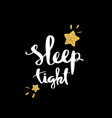 sleep tight lettering for poster vector image