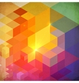 Vibrant colorful abstract geometry background vector image