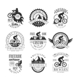 Custom Made Free Ride Bike Shop Black And White vector image