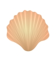 Shell icon logo element Flat style isolated on vector image